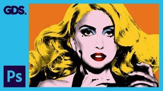 getlinkyoutube.com-Create Andy Warhol Style Pop Art - Lady Ga Ga [Photoshop CS5]