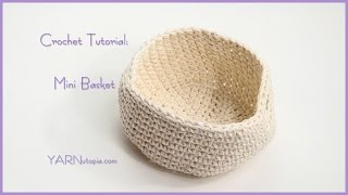 getlinkyoutube.com-How to Crochet a Simple Mini Basket