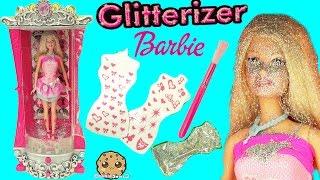 getlinkyoutube.com-Glitterizer Machine Playset , Barbie Glitter Fashion Style Makeover - Cookieswirlc Unboxing Video