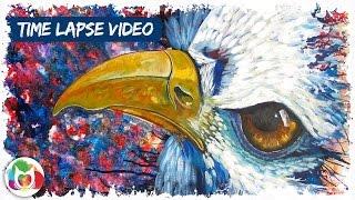 "getlinkyoutube.com-""FREEDOM"" Time-lapse of an Eagle Painting amazing art Cinnamon Cooney"