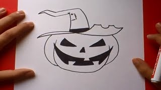 getlinkyoutube.com-Como dibujar una calabaza paso a paso 2 | How to draw a pumpkin 2