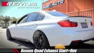 getlinkyoutube.com-BMW 328i [F30] N20 w/ Injen Intake & Remus Quad Exhaust @ ModAuto