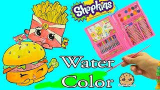 getlinkyoutube.com-Shopkins Art Set Marker & Water Color Fast Food Picture Painting - Video Cookie Swirl C
