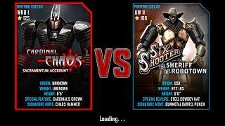 getlinkyoutube.com-Real Steel WRB Cardinal Chaos VS Six Shooter NEW UPDATE