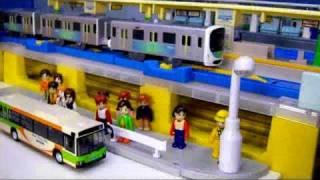 getlinkyoutube.com-プラレール電車27 【高田馬場駅】 Plarail Trains 27