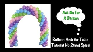 getlinkyoutube.com-Balloon Arch Tutorial - Without A Stand - Spiral