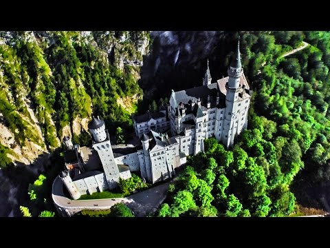 The REAL Disney Castle!  Flying through Germany and Prague in 4K!