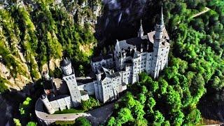 getlinkyoutube.com-The REAL Disney Castle!  Flying through Germany and Prague in 4K!