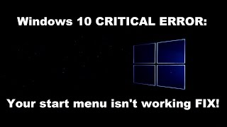 getlinkyoutube.com-How to fix Windows 10 start menu isn't working error
