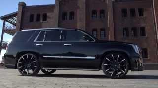"getlinkyoutube.com-2015 Cadillac Escalades on 26"" Lexani Wheels Montage"