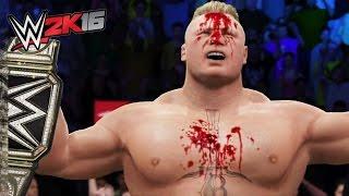 getlinkyoutube.com-WWE 2K16 TOP 10 EXTREME BROCK LESNAR'S F5'S! (PS4/XboxOne!)