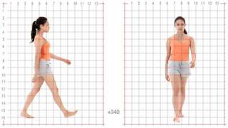 getlinkyoutube.com-Animation Reference - Female Standard Walk - Grid Overlay