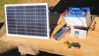 getlinkyoutube.com-How to build  a basic portable solar power system -camping,boating,off grid living-
