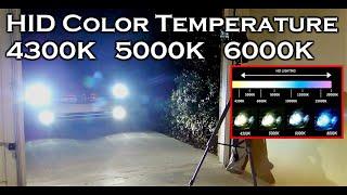 getlinkyoutube.com-HID XENON COLOR TEMPERATURE 4300K 5000K 6000K