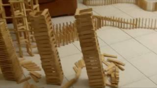 HTK#14 - kapla construction destruction domino : pont et serpent