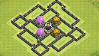 getlinkyoutube.com-Clash of Clans - NEW TH7 Dark Elixir Farming Base With Air Sweeper Speed Build