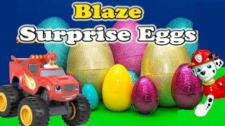 getlinkyoutube.com-BLAZE AND THE MONSTER MACHINES Nickelodeon Blaze & Paw Patrol Suprise Eggs Toys Video