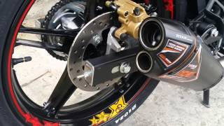 getlinkyoutube.com-Yamaha Sniper MX 150 / Nob1 Titan muffler sound test