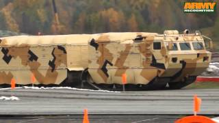 getlinkyoutube.com-DT-10PM two section tracked all-terrain amphibious carrier vehicle Vityaz Russia Russian army