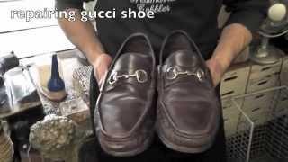 getlinkyoutube.com-Repair Gucci Leather Sole www.pickupmyrepair.co.uk
