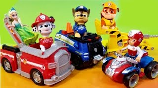 getlinkyoutube.com-NEW Paw Patrol Dog Toys Nickelodeon Nick Jr Rubble Bulldozer Marshall Firetruck Chase Ryder ATV
