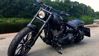 getlinkyoutube.com-Harley Davidson Breakout Black Matt (Nik from Germany)