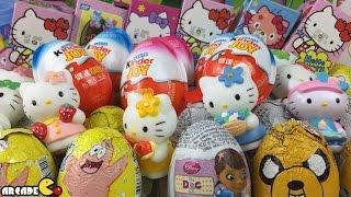 getlinkyoutube.com-New Kinder Surprise Eggs Hello Kitty Surprise Eggs Kinder Chocolate Surprise Eggs Disney Barbie Cars