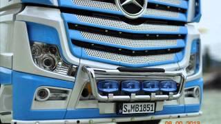 getlinkyoutube.com-.tamiya 1:14  Mercedes-Benz Actros 1851 Blue GigaSpace 6x4 .