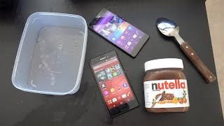 getlinkyoutube.com-Sony Xperia M4 Aqua - Nutella Freeze Test! (4K)