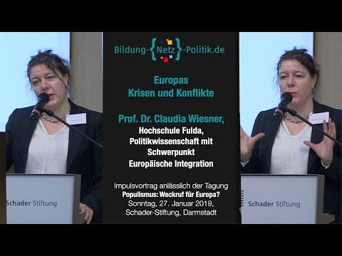 Europas Krisen und Konflikte, Vortrag von Prof. Dr. Claudia Wiesner, Hochschule Fulda