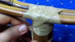 getlinkyoutube.com-Como realizar un nudo / amarre en varas de Bambú / Guadua.