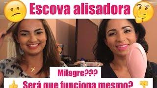 getlinkyoutube.com-Escova Alisadora e Chapinha/Straightener Iron Brush/Resenha 👭