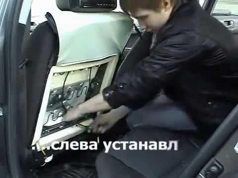 Установка подголовника с монитором и DVD в автомобиль | Как установить подголовник с монитором?