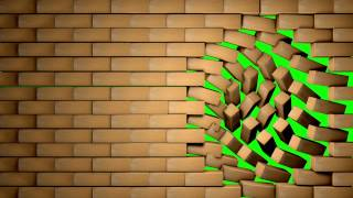 www.vita.art.br - Bricks Wall - Green Screen