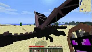 getlinkyoutube.com-AnimalBike Mod 1.5.2: fly an Ender Dragon, ride on Notch (Updated LINK) NOW WITH DINOS AND BUNNYS!!!