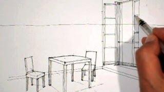 Download video dessin d 39 une chaise en perspective comment dessiner - Chambre en perspective facile ...