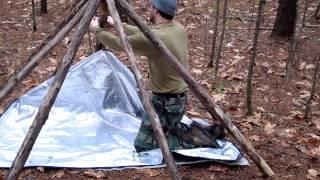 getlinkyoutube.com-FlatHead's Frame, An Awesome Bushcraft Shelter Frame
