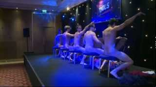 getlinkyoutube.com-Male strippers get naked to Maroon 5's Moves Like Jagger at Magic Mike premiere