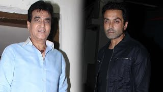 Jitendra And Bobby Deol Watch Mubarakan Movie At Juhu PVR