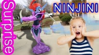 getlinkyoutube.com-Ninjini Surprises Kids! Magically Appears at House! (Skylanders Giants Reverse Hunting)