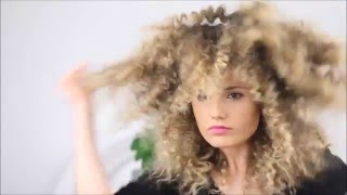 How to make straight hair into fluffy zig zag texture hair