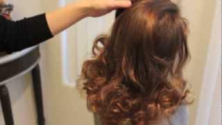getlinkyoutube.com-靴下!をつかって巻き髪 ソックカール no-heat sock curls