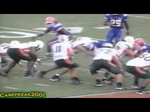 2002 Miami Hurricanes vs Florida Gators Highlights