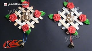 getlinkyoutube.com-HOW TO: make Ganpati Wall Hanging  from Ice Cream Stick / Popsicle Sticks - JK Arts 499