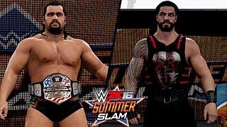 getlinkyoutube.com-WWE SummerSlam 2016: Rusev vs. Roman Reigns (United States Championship)