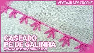 getlinkyoutube.com-Aprendendo Caseado Pé de Galinha em croche - Aprendendo Crochê
