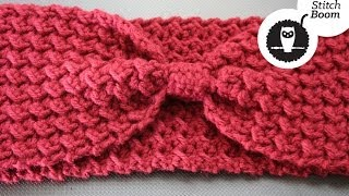 getlinkyoutube.com-Crochet Tutorial: Moss Stitch Ear Warmer
