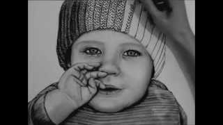 getlinkyoutube.com-How to Draw a Baby with Charcoal