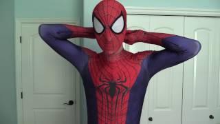 getlinkyoutube.com-The Amazing Spider-Man 2 Zentai-Zentai Suit Review