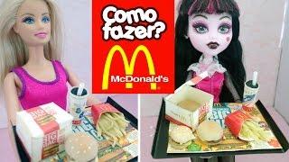Mini Hambúrguer do McDonald's (Big Mac) para Barbie e outras bonecas!